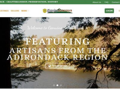 GenuineAdirondack.com is the only marketplace website for the Adirondack region